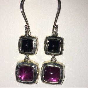 Ippolita Rock Candy Onyx Amethyst ?  925 Earrings